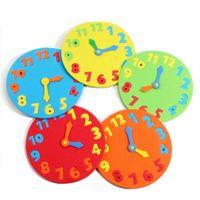 espuma de cor diy venda por atacado-Saat Eva Foam Número Relógio aleatoriamente enigma da cor montado Itens Diy criativa educacional para crianças de aniversário caçoa o presente Wall Clocks