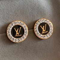 beaux bijoux diamants achat en gros de-Boucle d'oreille de mariage de diamant de luxe 18K plaqué or en acier inoxydable argent fine bijoux pour femmes filles fine bijoux pour amoureux accessoires Bijoux