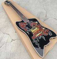 freie hohlkörpergitarre großhandel-2018 hohlkörper e-gitarre, hohe qualität thunderbird e-gitarre, echte fotos, freies verschiffen!
