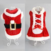 ingrosso vestito del cane del cucciolo del cane-Pet Supplies Dog Cat Christmas Clothes Christmas Dress Vestito trasformato Funny Dress Cute Puppy Outwear Sweater Costumes