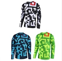 Wholesale bike race shirts for sale - Group buy TLD speed drop suit Cycling suit long sleeve shirt Summer mountain bike cross country motorcycle racing suit