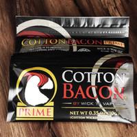 e fil d'atomiseur de cigarette achat en gros de-100% coton biologique la version la plus récente de COTON BACON 2.0 Prime Gold pour les atomiseurs RDA RBA de fil de chauffage en spirale E de cigarette