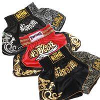 erkekler için sıcak sicimler toptan satış-Sıcak erkekler Yüksek Kalite MMA boks Şort Muay Thai Mücadele Eğitim Kickboks Şort Dövüş sanatları Boks Sandıklar Nefes