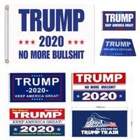suministros de fiesta de estados unidos al por mayor-Banner Trump 2020 Banderas bandera de América de nuevo por el presidente EE.UU. Donald Trump 2020 Elección de la bandera de la bandera de la decoración 90 * 150cm de fiesta HH7-1988