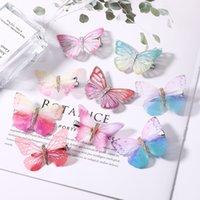 ingrosso fascia colorata della farfalla-20pcs / 10 set ragazze colorato sogno farfalla cartone animato tornante bambini clip di capelli moda per capelli barrettes accessori per capelli fascia
