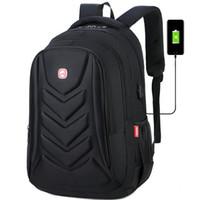 carregador do saco usb venda por atacado-Homens Moda Laptop Mochila USB Carregador Mochilas Computador Bag Pacote Unisex Mochila Escolar Mochila de Viagem Dos Homens de Negócios Ao Ar Livre
