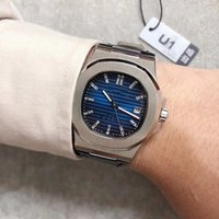 Wholesale dial watch for sale - U1 Years Limited Edition Pp Automatic Movement Nautilus Watch Men Blue Dial Stainless Band Male Watch Montre Homme