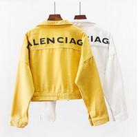 bayan beyzbol hırkası toptan satış-Kadın palto moda rüzgarlık Harajuku Kadın hırka ceket tasarımcı Beyzbol ceketler kadın kot Kadın Rahat F006 #