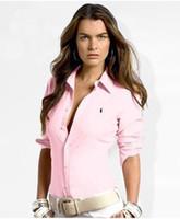 mujeres de polo a cuadros al por mayor-2019 Nuevo diseño de moda de verano Inglaterra Plaid camiseta de manga corta de las mujeres de alta calidad 100% algodón impresión POLO camisa negro rosa