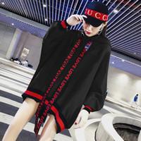 sudadera roja con capucha al por mayor-BTS kpop otoño cálido rojo suelto sudaderas con capucha de las mujeres suéteres casuales 2019 nuevo coreano hip hop con capucha Harajuku sudaderas ropa de mujer
