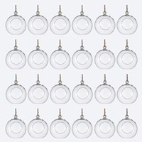 Wholesale terrarium candles wedding resale online - Package of Clear Glass Orbs Terrarium Hanging Glass Candle Holders CM Tea Light Holders Use For Succulent Gardening or Wedding Decorati