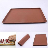 Baking Pan Non-stick Silicone Oven Mats Cake-Roll Mat Mould Functional Macaron Cake Pads Swiss Roll Pad Bakeware Tools