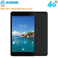 Wholesale 4g tablet 32gb online - NEW ALLDOCUBE T801 inch G Phone Call Tablets MT6797X Helio X27 Deca Core IPS Screen Android GB GB Tablet PC