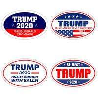 imanes de nevera de moda al por mayor-Trump 2020 Pegatinas Moda Donald Elección Presidencial Keep hacer de Estados Unidos Gran imán de frigorifico etiqueta de la pared Decoración TTA1583-8