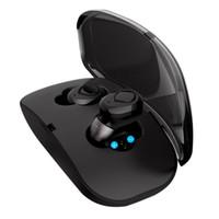unsichtbare headsets großhandel-X18 TWS unsichtbare Mini Earbuds drahtloser Bluetooth Kopfhörer 3D-Stereo-Freisprecheinrichtung Noise Reduction Bluetooth Headset für iPhone mit Lade Fall
