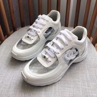 zapatos de vestir puntitos de goma al por mayor-Diseñador de lujo para hombre zapatos casuales de corte bajo zapatillas de deporte transparentes superestrellas Moda Clásico de las mujeres zapatos de los planos modelos de pareja de alta calidad