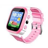ingrosso guardare gsm sos-Smart Watch con localizzatore GSM Screen Tracker SOS per bambini Bambini Monitor di frequenza cardiaca Fitness Tracker di moda EnglIsh