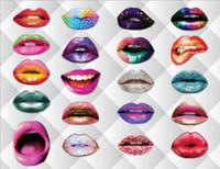 accesorios de cumpleaños photobooth al por mayor-Funny Lip Mouth Photobooth Props Decoración de la boda adultos niños DIY Photo Booth cumpleaños graduación Halloween fiesta de Navidad decoración
