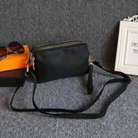 monederos de nylon al por mayor-bolsas de hombro de lujo bolsos del bolso del diseñador de la marca crossbody transversal del cuerpo de los bolsos de embrague bolsa de nylon impermeable monedero Tres cremalleras