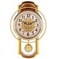 Wholesale decor chic for sale - Group buy Vintage Pendulum Clock Wall Home Decor Silent Products Clock Shabby Chic Reloj Pared Grande Home Decor