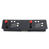 contrôleur d'arcade pc achat en gros de-Conception ergonomique Double Arcade Bâton Jeu Vidéo Joystick Controller Gamepad Pour Windows PC Enjoy Fun Game