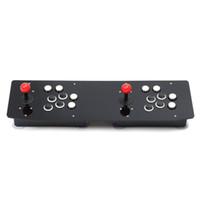 ingrosso arcade joystick-Design ergonomico Double Arcade Stick Videogioco Joystick Controller Gamepad per PC Windows Divertiti con il gioco