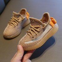Wholesale li ning sneakers resale online - Kids Shoes Sneakers Toddler Kanye West Run Shoes Infant Baby Children Youth Boys and Girls Chaussures Pour Enfants