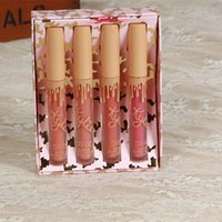 Wholesale bright lip colors resale online - Brand Long Lasting Lipstick Set Lip Gloss set Colors bright Lipstick Waterproof Matte Lip Makeup