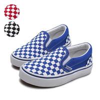 zapatos de lona de los niños del otoño al por mayor-Zapatos infantiles para niña Niños Lienzo Skate Shoe Boy Niños Zapatillas 2019 Otoño Niños Zapatos Zapatillas Niños Niñas A cuadros