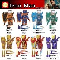 Wholesale captain marvel toys resale online - Single Avengers Endgame Iron Man Pepper Old Captain America Marvel Super Heroes Building Blocks Bricks Toys For Children Gift