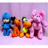Wholesale girls gifts for sale - Pocoyo Duck Plush Doll Elephant Dog Stuffed Toys Birthday Girl Gift Cartoon Character Yellow Orange Blue New hja D1
