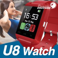 Wholesale samsung electronics online - U8 Smartwatch Bluetooth Smart Watch WristWatch digital sport watches for apple Android Samsung phone Wearable Electronic Device pk DZ09 GT08