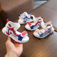 sandálias de bebê venda por atacado-Bebê Crianças Sandálias Para Meninas Do Sexo Masculino Menina Praia Crianças Calçados Do Bebê de Fundo Macio Estudo Andando Sapatos Não-deslizamento