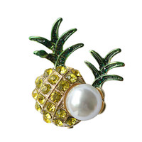 Wholesale pineapple brooches for sale - Group buy Cute Enamel Pineapple Brooches for Women Fashion Fruit Brooch Pin Bijouterie Badages Backpack Jewelry High Quality