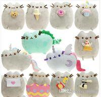 Wholesale moon cat toys resale online - US The Cat Angel Cake Cookie Icecream Egg Pizza Doughnut Rainbow Sushi Dinosaur Dino Moon Cat CM Plush Doll Stuffed Best Gift Soft Toy