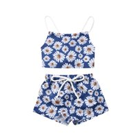 Wholesale newborn baby girl clothing sets for sale - Group buy Cute Newborn Clothes Set Baby Girl Floral Clothes Flower Crop Tops Shorts Pants Infant Clothing Set Baby Outfits Girl Clothing