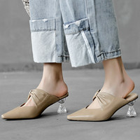 Wholesale wood bow glasses resale online - Hot2019 Wine Crystal Square Glass Opposite Sex With Bow Concise Ma am Mulder Shoes