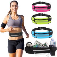 Wholesale travel waist bags for men for sale - Group buy US Ship Outdoor Men Women Waist Bag Fashion Waterproof Fanny Pack For Female Running Phone Belt Bag Waist Pack Travel Portable Ladies Pouch