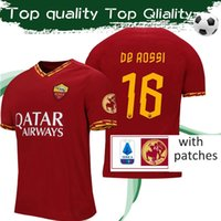 Wholesale patches for jerseys for sale - Group buy 2020 Roma Special Edition For DE ROSSI Red Soccer Jerseys DE ROSSI Football Shirt With CELEBRATIVA DDR Patch
