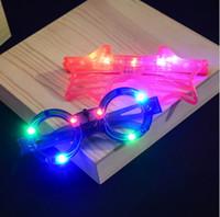 neonlicht dekor großhandel-100 stücke LED Licht Dekor Glas Kunststoff Leuchten LED Gläser Leuchten Spielzeug Glas für Kinder Party Feier Neon Zeigen Weihnachten Neujahr dekorationen