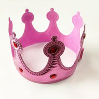 Wholesale king crown hats for sale - Group buy Crown Headwear Bright Crown King Queen Princess Head Hoop Fancy Dress Adjustable Kids Adult Props Party Hats Decoration GGA2959