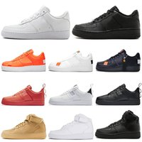 nike air force 1 af1 forces shoes Designer One 1 Dunk Hombres Mujeres Flyline Zapatillas de running, Skateboarding Ones Shoes High Negro Blanco Trigo