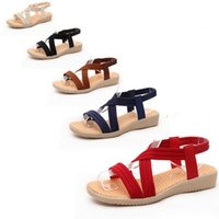 4f0c9fa85b49 Wholesale fish sandals online - Fish Mouth Female Sandals Summer Seaside  Beach Flat Shoes Elastic Band
