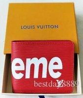 e4f872461 2019 Nuevo Diseñador de Moda Estilo PU Cartera Roja de Cuero Marca Hombres  Carteras Monedero Negro Clips de Dinero Estilo Corto