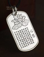 Wholesale 999 singapore gold resale online - 999 Solid Sterling Silver Fashion Jewelry Lotus Flower Heart Sutra Zen Yoga Pendant NO CHAIN A2795
