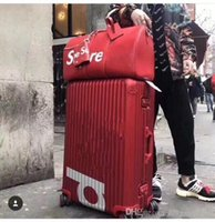 Wholesale trunk suitcases for sale - Group buy sale fashion original Top quality luggage bag trunk bag Trolley case