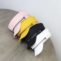 japanische flache baumwolle großhandel-Herbst Modedesigner Luxus dünne flache Hut weibliche wilde Flut japanischen Armee Kappe koreanischen Druckkünstler Nachrichten achteckige Kappe Baumwollbarett