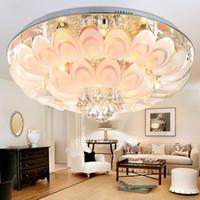 ingrosso decorazioni di pavone bianco-Plafoniera di cristallo rotonda del pavone per la lampada dell'interno del salone con la decorazione domestica telecomandata di luminaria