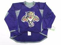 talla 58 jerseys al por mayor-Barato personalizado FLORIDA PANTHERS PURPLE EDGE PRACTICA HOCKEY JERSEY TAMAÑO 58 puntada agregue cualquier número cualquier nombre Mens Hockey Jersey XS-5XL