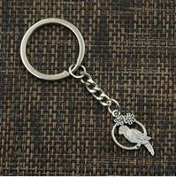 kuş kafesi cazibeleri toptan satış-20 adet / grup Anahtarlık Anahtarlık Takı Gümüş Kaplama birdcage Charms kolye Anahtar aksesuarları için 14x28mm